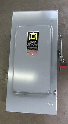SQUARE D H363 h-363 100a 100 A AMP SAFETY SWITCH FUSIBLE DISCONNECT 600VAC 3PH