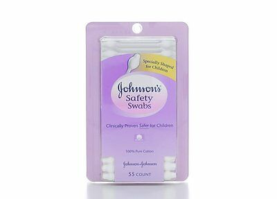 Johnson's Safety Swabs, 55 Ct (Pack of 48)