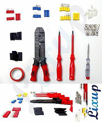 Lixup Electricians Crimping Tool & Wire Stripper Kit Crimper Terminal Set
