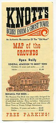 "1970 Vintage KNOTT'S Brochure: ""Map of the Grounds"""