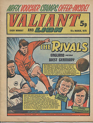 VALIANT & LION Comic 1975 England Football cover - inc. Billy Bunter VGC