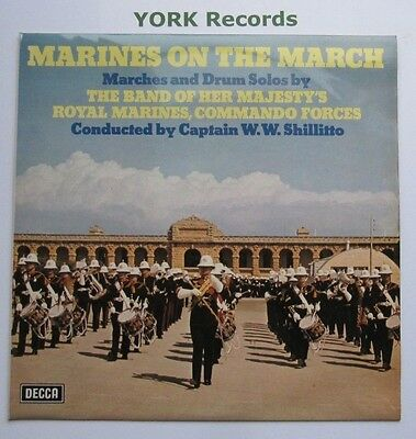 BAND OF HM ROYAL MARINES - Marines On The March - Ex Con LP Record Decca SB 714