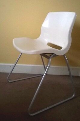White gloss plastic IKEA SNILLE CHAIR, collect - Newcastle-under-Lyme