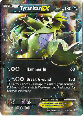Pokemon Tyranitar Ex Xy Ancient Origins 42/98