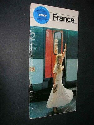 SNCF French Railways 1978 Vintage Brochure No.21 France Train Rail Visitor Guide