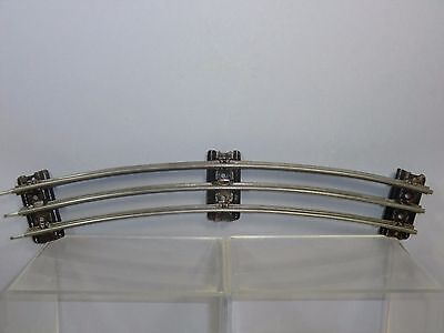 "VINTAGE HORNBY ""0"" No.""EA2 ""  24"" RADIUS  3-RAIL CURVE WITH TAPER SLEEPER"