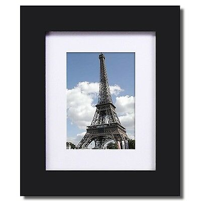 Adeco 6 Opening 5x7 Walnut Color Wood Wall Hanging Divided Picture