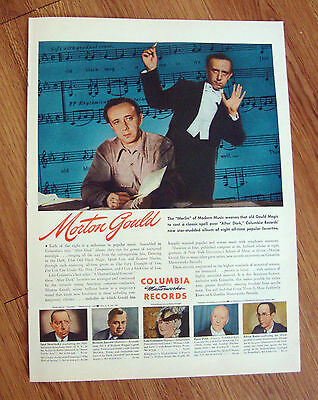 1945 Columbia Records Ad  Morton Gould The Merlin of Modern Music