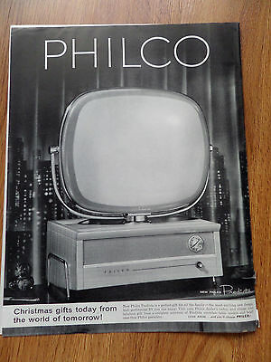 1958 Philco TV Television Ad  The New Philco Predicta