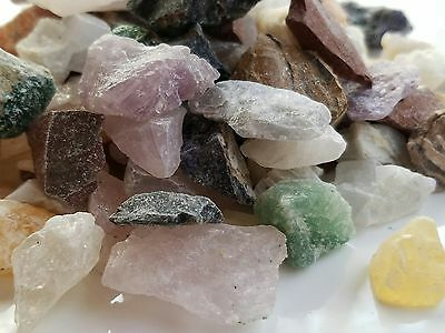 Crafters collection 1lb rough rock Mix Gems Crystals natural mineral specimens