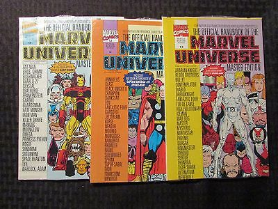 1990's Official Handbook of The MARVEL UNIVERSE #13-15 LOT of 3 SEALED
