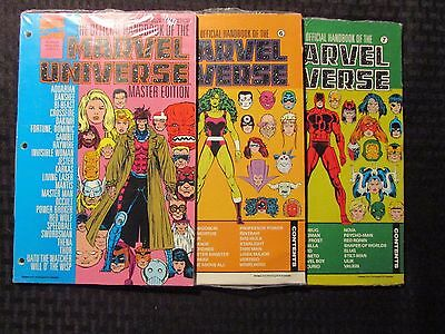 1990's Official Handbook of The MARVEL UNIVERSE #6-7 Master Ed LOT of 3 SEALED