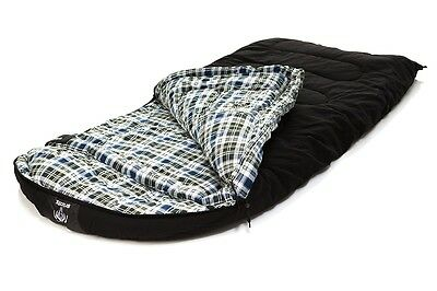 GRIZZLY 1-Person -50 Degree BLACK CANVAS SLEEPING BAG by BLACK PINE
