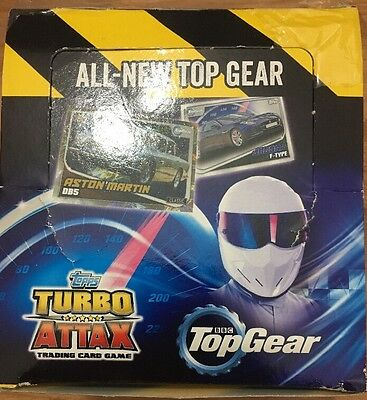 Topps BBC TopGear Turbo Attax Trading Cards Full Box X 50 Packets