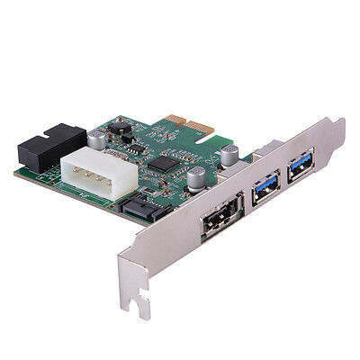 PCI-E to USB 3.0 2-Port + eSATA Expansion Card w/ Internal 19Pin Connector AC584