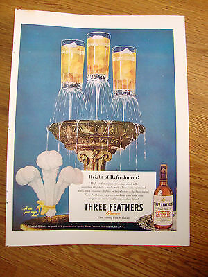 1947 Three Feathers Whiskey Ad 1947 Camel Cigarette Ad Cecil Smith Polo Star