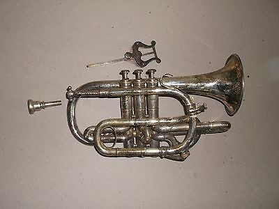 """Early 1900s BOOSEY AND CO """"SOLBRON"""" CORNET SERIAL No 9769"""