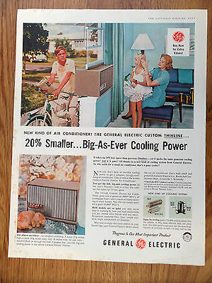1958 GE General Electric Air Conditioner Ad Thinline
