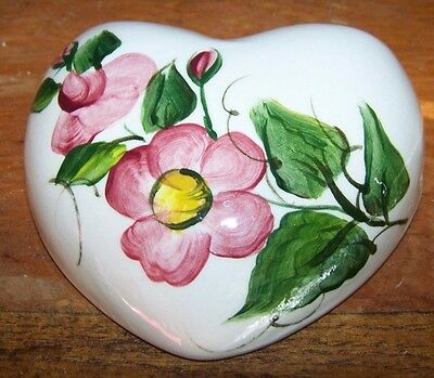 Vintage Signed, Hand-Painted Ceramic Wall Pocket - Wild Roses