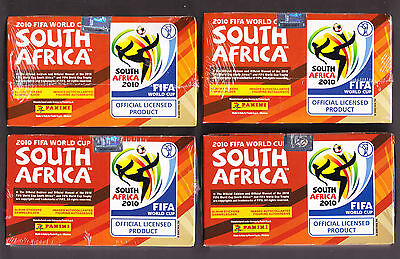 """4 x Panini World Cup 2010 Sealed Boxes of 100  Sticker Packets. """" Brand New"""""""