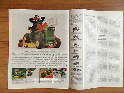 1968 John Deere Lawn Tractor Ad Special Holiday Offer for Kids Too