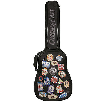 ChromaCast World Tour Graphic Multi-Pocket Acoustic 3/4 Size Guitar Gig Bag