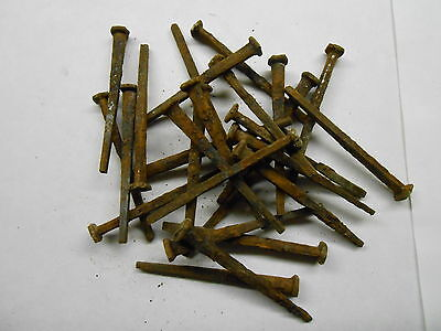 "Antique Wrought Iron Cut 6D Nails 2"" Long"