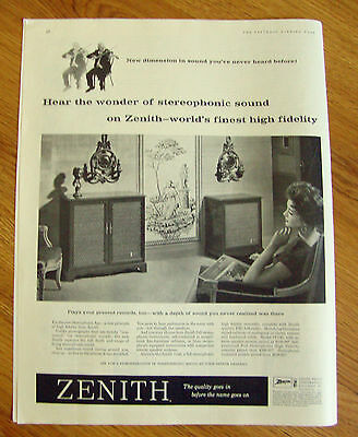 1959 Zenith Stereophonic Phonograph Ad