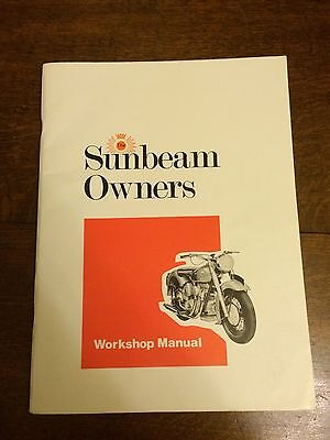 The Sunbeam Owners Workshop Manual Plus S7 & S8 Catalogue / Price List Motorbike