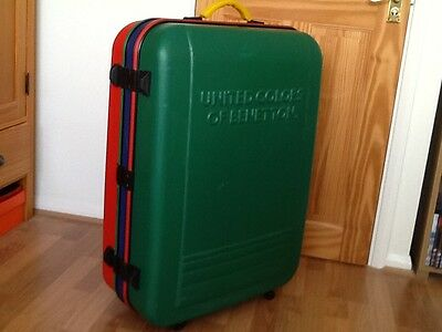 United Colors of Benetton Vintage Suitcase - Large Storage Colours Case Travel