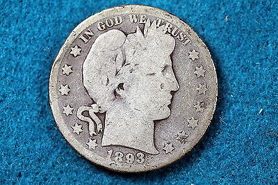 Estate Find 1893-S Barber Half Dollar!! #c3030