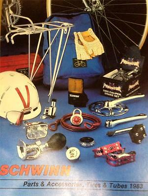 original 1983 Schwinn Bicycle Co.PARTS AND ACCESSORIES  brochure catalog