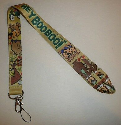 Hey Boo Boo! Neck Lanyard - Yogi Bear Cartoon Keychain Hanna Barbera Themed