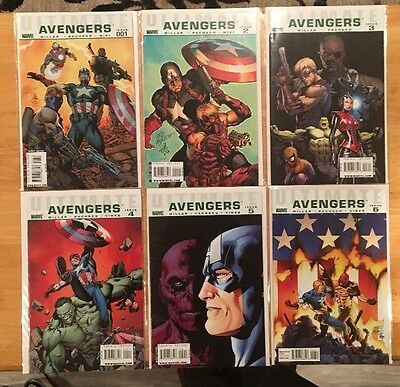 Ultimate Avengers #1-6 NM 9.4 MARK MILLAR CARLOS PACHECO VS THE RED SKULL