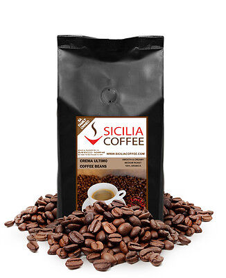 FRESH COFFEE 1kg CREMA ULTIMO Coffee Beans, Freshly Roasted, 100% Arabica