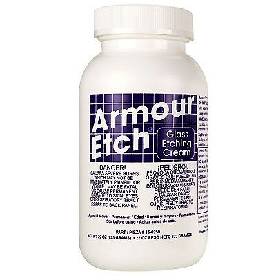 Armour Etch Cream, 22-Ounce (mirrors and household glassware) (15-0250) NEW