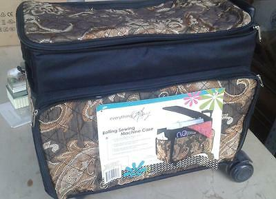 Everything Mary Rolling Sewing Machine Case With Telescoping Handle MINT