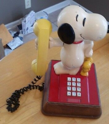 1976 snoopy and woodstock telephone