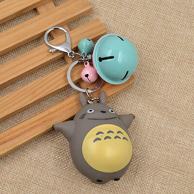 Anime My Neighbor Totoro Keychain Bell Pendant Key Ring for Bag Keys Cute Lovely