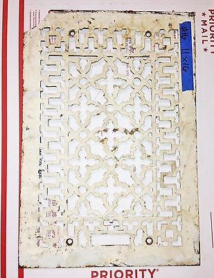 Antique Salvaged Vintage Floor Wall Grate Heat Return Register Vent #16