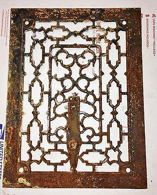 Antique Salvaged Vintage Floor Wall Grate Heat Return Register Vent #18