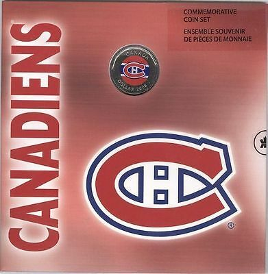 2007-08 Montreal Canadians NHL Royal Canadian Mint COIN Gift Set Colored Loonie