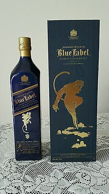 Johnnie Walker Blue Label Zodiac Blue Monkey Bottle 1 Litre!! Travel Exclusive!