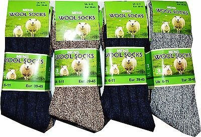 New Ultimate Mens Wool Thermal Outdoor Warm Work Boot Towel Socks One Size 6-11