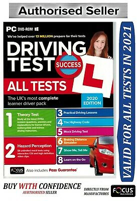 Driving Theory Test Success All Tests & Hazard Perception test PC DVD 2019 *atPc