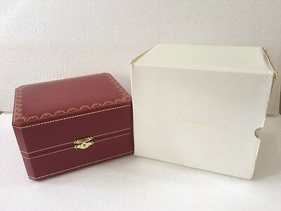 """Cartier Vintage Jwelery watch box"""" Damage """" condition with white outer cover."""