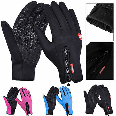 Touch Screen Gloves Windproof Waterproof Anti-slip Thermal Mittens Outdoor Sport