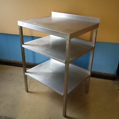 Stainless Steel Commercial Catering Kitchen Prep Table Work Top Bench USED