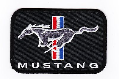 Ford Mustang Pony Sew/iron On Patch Shirt Jacket Embroidered Mach 1 Gt 5.0 Boss