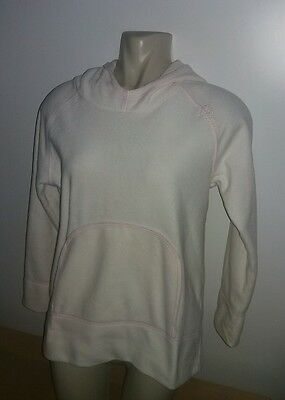 Next Girls Age 12 Height 152cm White Pink Hoodie Hooded Sweat Top Autumn Wear